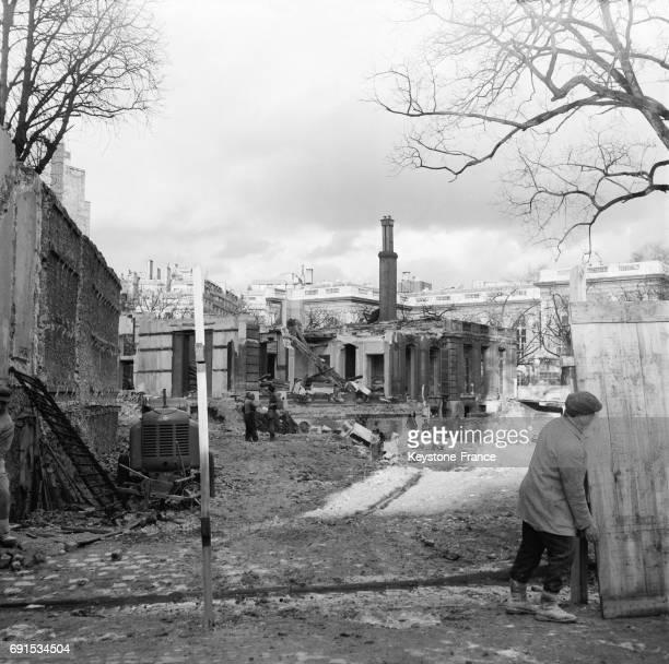 Quartier de la ville endommagé lors du débarquement des forces francobritanniques pendant la Crise de Suez à PortSaïd Egypte le 9 novembre 1956