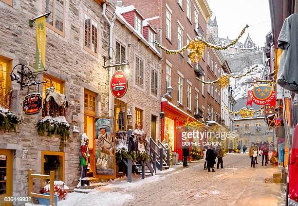 Quartier Petit Champlain, hiver
