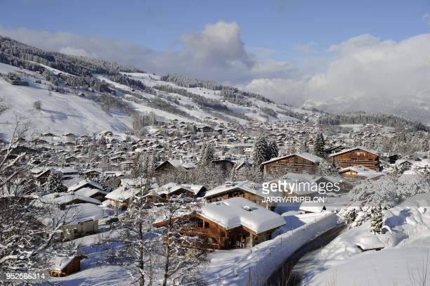 Quartier Rochebrune de la station de ski de Megeve, Pays du Mont Blanc et Val d Arly, departement Haute-Savoie, region Rhone-Alpes, France.