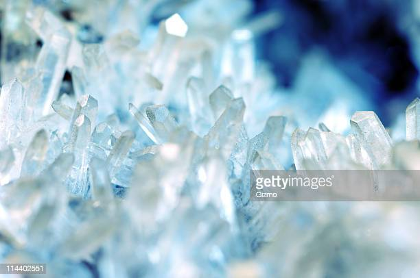 quartz crystal - crystal stock pictures, royalty-free photos & images