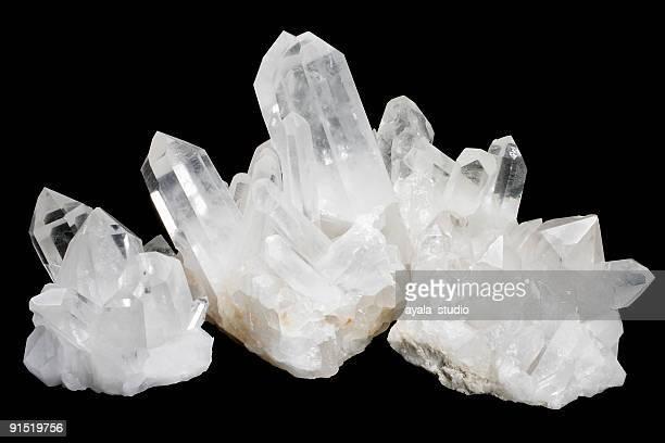 Quartz Crystals 2 on Black Background