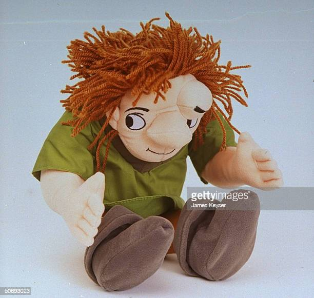 Quasimodo doll from 1995 Disney movie Hunchback of Notre Dame based on character from Victor Hugo classic