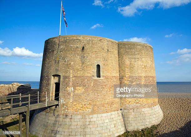 Quatrefoil Napoleonic war martello tower at Slaughden Aldeburgh Suffolk England