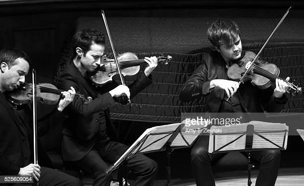 Quatuor Ebene with Pierre Colombet on violin Gabriel Le Magadure on violin and Adrien Boisseau on viola perform Franz Schubert's String Quintet in C...