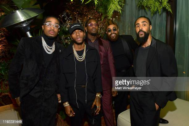 Quavo 6lack Offset Mobolaji Dawodu and Jerry Lorenzo attend the 2019 GQ Men of the Year celebration at The West Hollywood EDITION on December 05 2019...