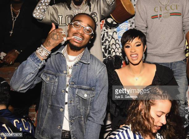 Quavo and Cardi B attend as Atlantic Records celebrates the 2018 VMA's on August 20 2018 at TAO Downtown in New York City