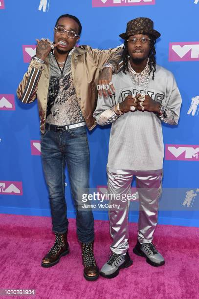 Quavo and Offset of the Migos attend the 2018 MTV Video Music Awards at Radio City Music Hall on August 20 2018 in New York City