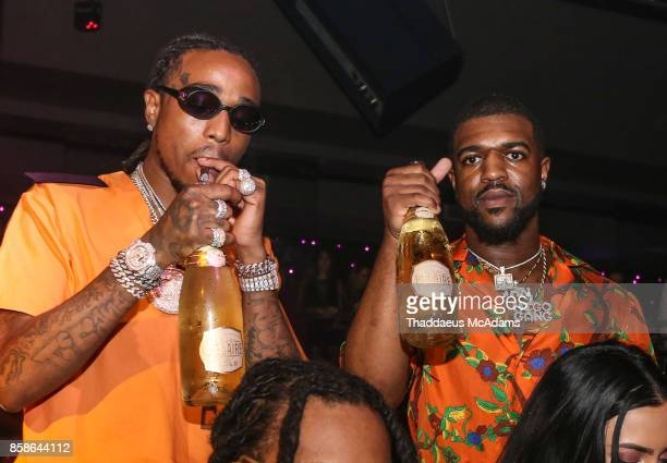 Quavo and Rell at Story Nightclub on October 6 2017 in Miami Beach Florida