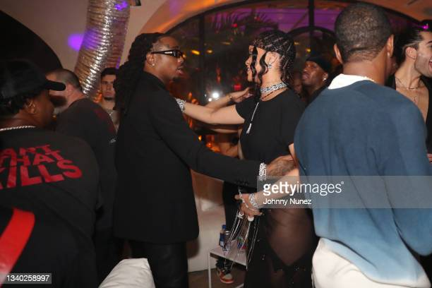 Quavo and Rihanna attend Rihanna's Met Gala After Party on September 13, 2021 in New York City.