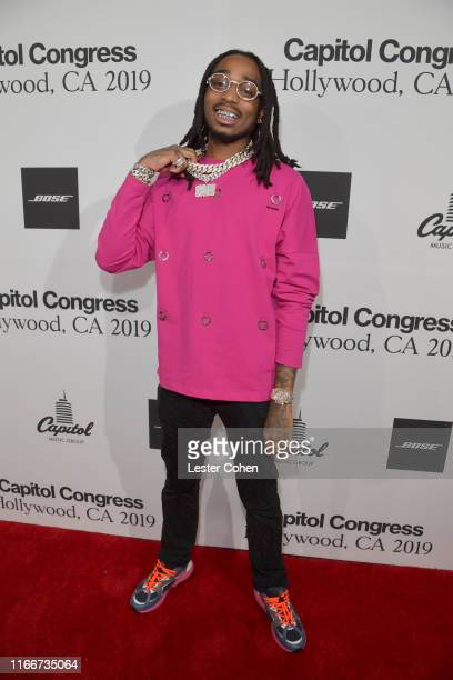 Quavo attends Capitol Music Group's 6th annual Capitol Congress premiering new music and projects for industry and media on August 07 2019 in Los...