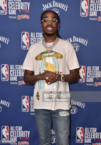 Quavo attends the NBA AllStar Celebrity Game 2018 at Verizon Up Arena at LACC on February 16 2018 in Los Angeles California