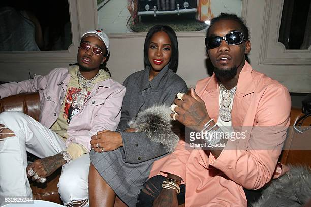 Quavo Kelly Rowland and OffSet attend VIP Event Hosted By Migos on January 26 2017 in New York City