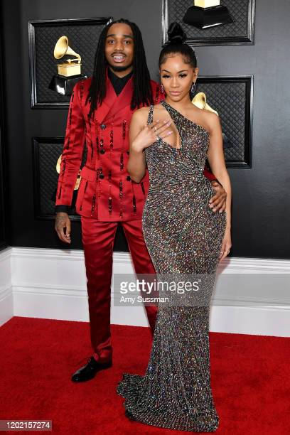 Quavo of Migos and Saweetie attend the 62nd Annual GRAMMY Awards at Staples Center on January 26 2020 in Los Angeles California