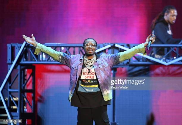 Quavo of Migos performs onstage during Bud Light Super Bowl Music Fest / EA SPORTS BOWL at State Farm Arena on January 31 2019 in Atlanta Georgia