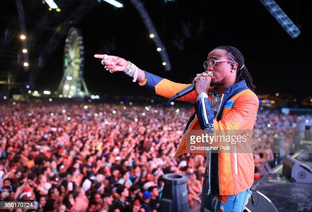 Quavo of Migos performs onstage during the 2018 Coachella Valley Music And Arts Festival at the Empire Polo Field on April 22 2018 in Indio California