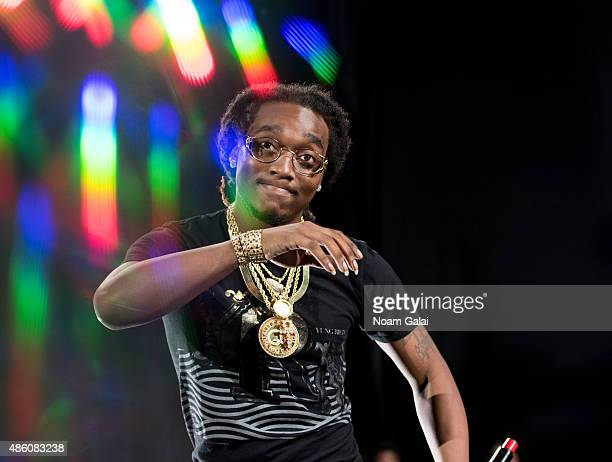 Quavo of the Migos performs in concert at Nikon at Jones Beach Theater on August 30 2015 in Wantagh New York