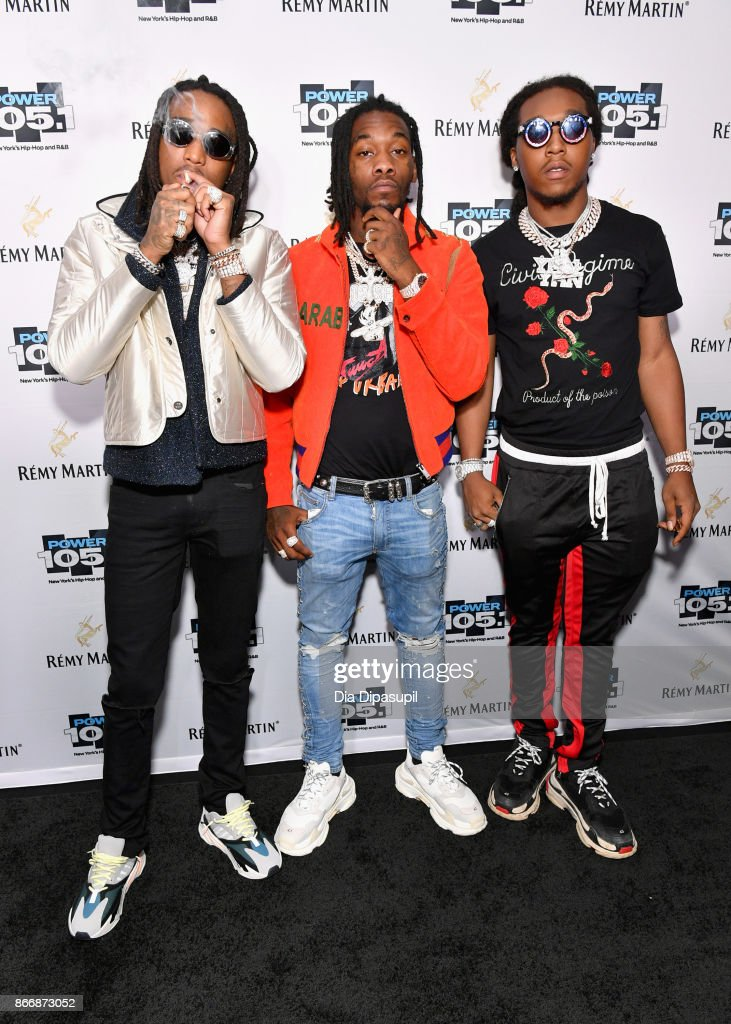 Quavo, Offset, and Takeoff of Migos attend Power 105.1's Powerhouse 2017 at the Barclays Center on October 26, 2017 in Brooklyn, New York City City.