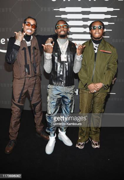 Quavo, Offset, and Takeoff of Migos attend Savage X Fenty Show Presented By Amazon Prime Video - Arrivals at Barclays Center on September 10, 2019 in...
