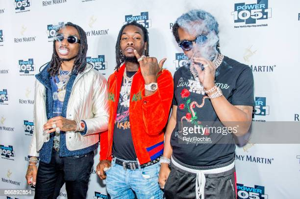 Quavo Offset and Takeoff of Migos attend the Power 1051's Powerhouse 2017 at Barclays Center of Brooklyn on October 26 2017 in New York City