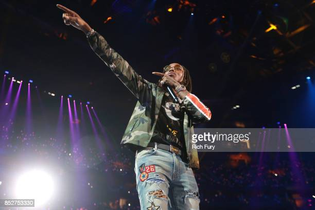 Quavo performs onstage during the 2017 iHeartRadio Music Festival at TMobile Arena on September 23 2017 in Las Vegas Nevada