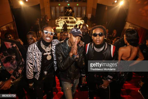 Quavo Pharell and Takeoff attend The Set Gala at The MacArthur on December 13 2017 in Los Angeles California