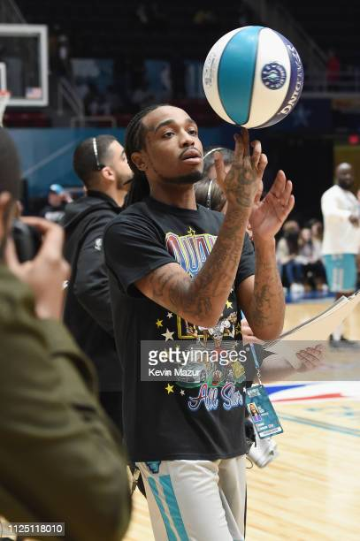 Quavo practices during the 2019 NBA AllStar Celebrity Game at Bojangles Coliseum on February 15 2019 in Charlotte North Carolina