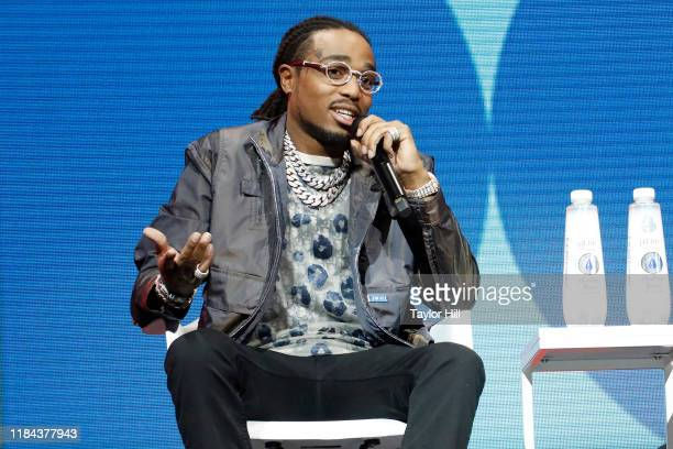 Quavo speaks during the 2019 Forbes 30 Under 30 Summit at Detroit Masonic Temple on October 29, 2019 in Detroit, Michigan.