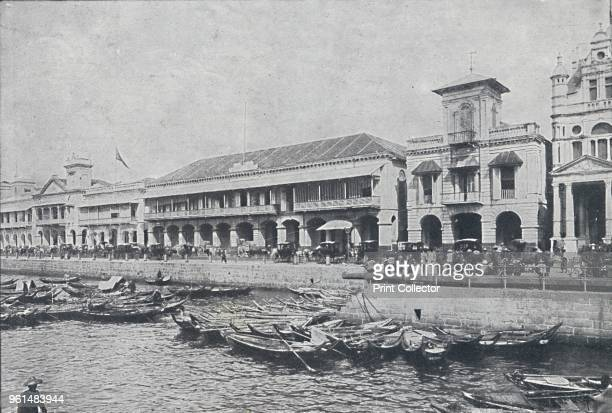 Quay at Singapore', 1924. From The British Empire in Pictures, by H. Clive Barnard, M.A., B.Litt. [A. & C. Black, Limited, London, 1924]Artist...