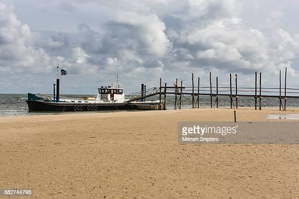 Quay of ferry to Ameland