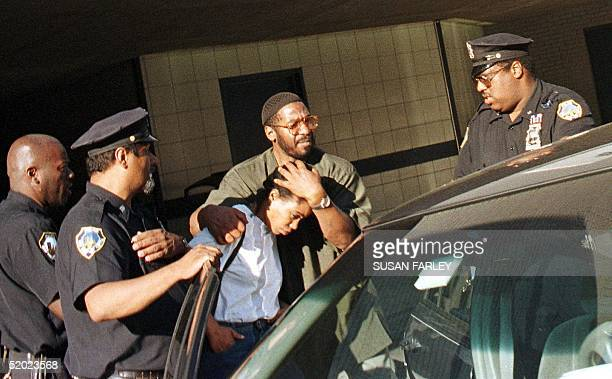 Qubilah Bahiyah Shabazz daughter of Betty Shabazz is helped to a waiting car 23 June outside Jacobi Hospital in the Bronx New York Betty Shabazz the...