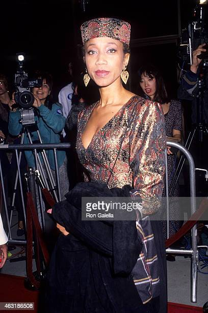 Qubilah Shabazz attends the Malcolm X Beverly Hills Premiere on November 17 1992 at the Samuel Goldwyn Theatre in Beverly Hills California