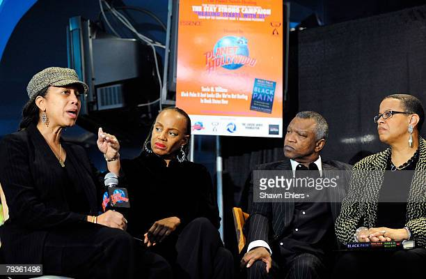 Qubilah Shabazz Susan L Taylor Butch Lewis and Terrie Williams attend a panel discussion of Williams' new book Black Pain It Just Looks Like We're...