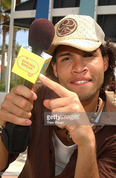 Quddus during MTV's Spring Break 2003 American Idol Taping at Surfcomber Hotel in Miami Florida United States