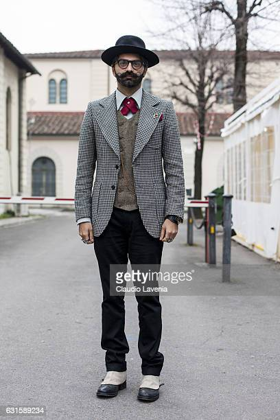 Qudeer Arshad is seen on January 12 2017 in Florence Italy