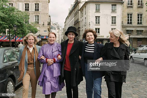 Quebec actress Alexandra Stewart French actress Bernadette Lafont Danish actress Anna Karina and French actresses Macha Méril and Françoise Brion The...
