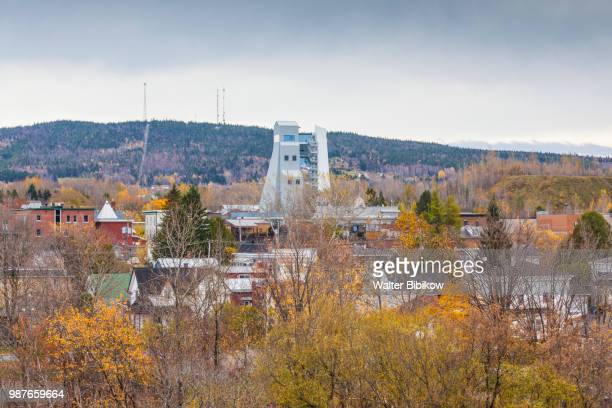 quebec, chaudiere-appalaches region, thetford mines, king mine historic site and town - mine elevator stock pictures, royalty-free photos & images