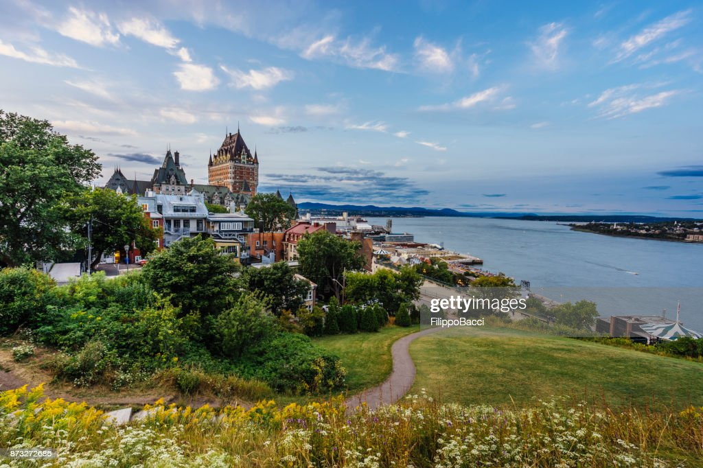 Quebec City at sunset : Stock Photo