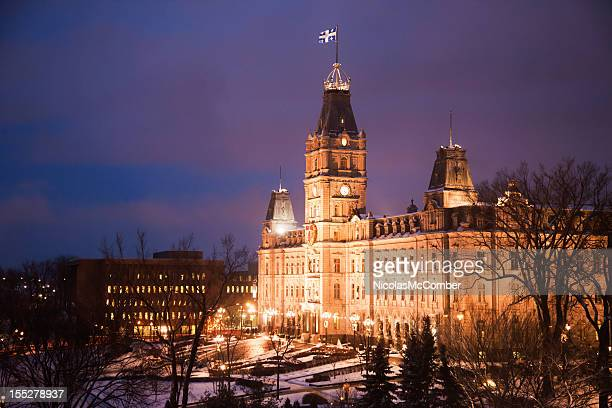 Quebec City House of Parliament Winter Night