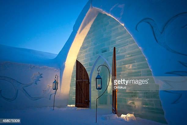 Quebec City Ice Hotel at Dusk, Canada