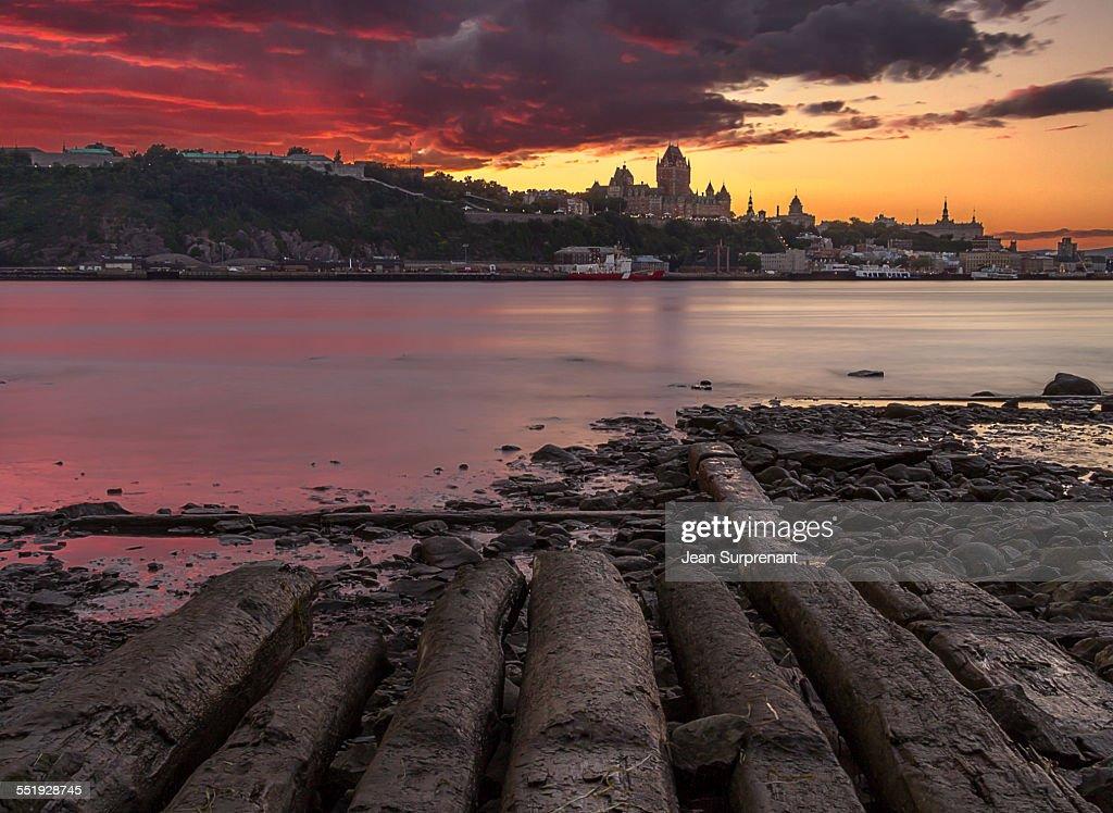 Quebec City long exposure sunset : Stock Photo