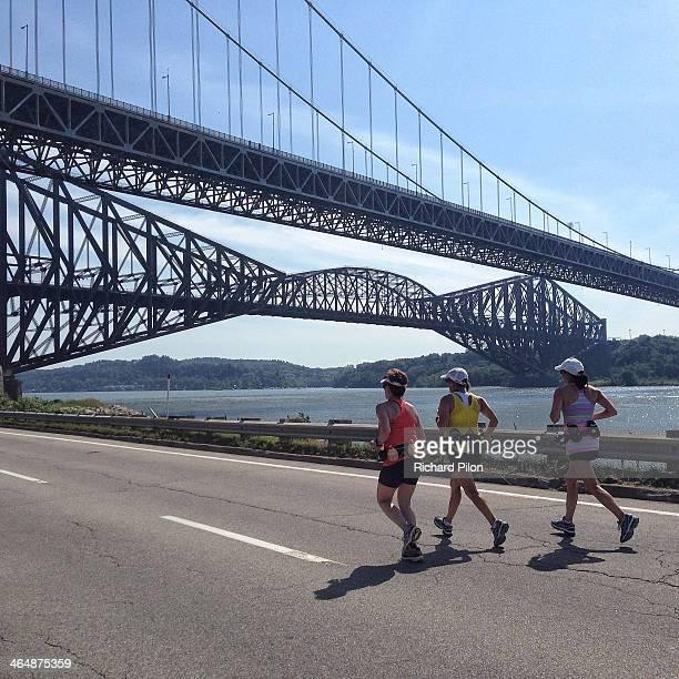 Quebec City Marathon,known as Le marathon des deux rives.