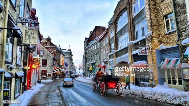 Quebec City old town in winter