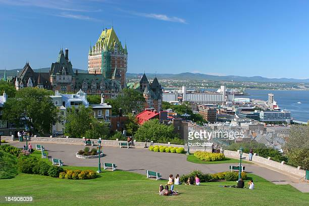 quebec city park near the frontenac castle - buzbuzzer stock pictures, royalty-free photos & images