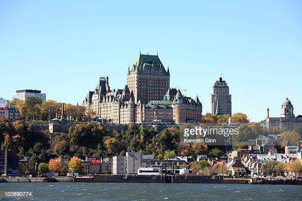A view of the Quebec City skyline from the St Lawrence.
