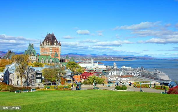 quebec city, quebec - old quebec stock pictures, royalty-free photos & images
