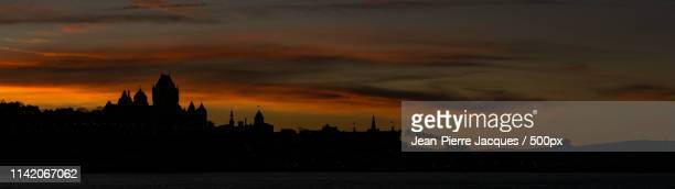 quebec city sunset - lévis quebec stock pictures, royalty-free photos & images