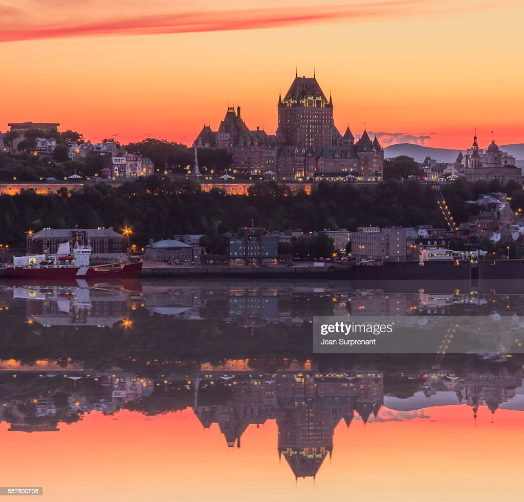 Quebec City sunset : Stock Photo