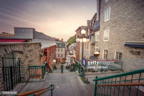 quebec city's historic district (old quebec) - old quebec stock pictures, royalty-free photos & images