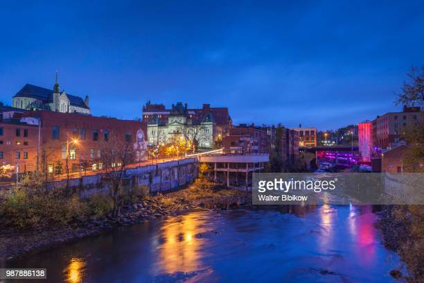 quebec, estrie region, sherbrooke, rapids of the st-francois river - eastern townships stock pictures, royalty-free photos & images