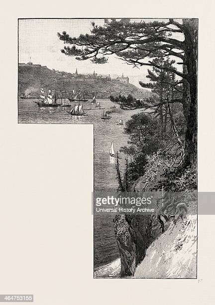 Quebec From Point Levis Canada Nineteenth Century Engraving
